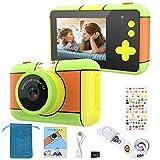 joylink Cámara para Niños, 2,4 Inch Pantalla Cámara de Fotos para Niños Cámara Selfie de 16MP 1080P HD Video Cámara Digital para Niños con Tarjeta TF de 32GB (Verde)