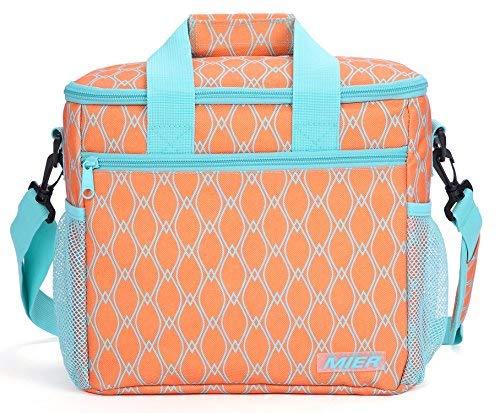 MIER 15L Bolsa aislante grande Picnic Cool Bag para hombres y mujeres, naranja