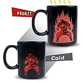 Dragon Ball Z calor de la taza Sensible,Makion La historieta del color de la manera reactiva Cambio de calor de cerámica Goku Rey Mono taza para el café caliente Milk Tea 300ML