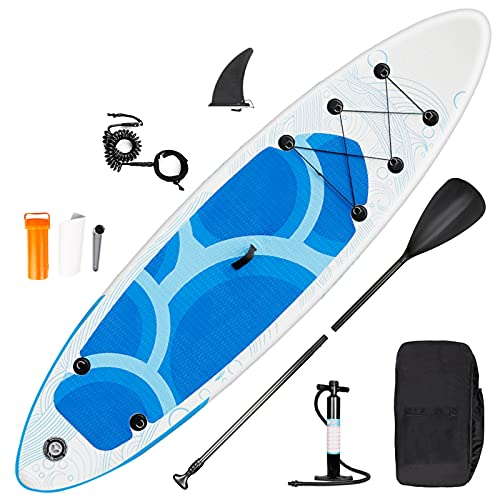 inty Stand Up Paddle Board Inflable, Paddle de PVC/EVA con Remo Ajustable, Bomba de Doble acción, Correa de Transporte, Caja de reparación, alerón (RY-309)