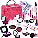 Tacobear Maquillaje Niñas Juego de Maquillaje Kit Juguete de Maquillaje con Bolsa de Maquillaje Cosmética Juguete Cumpleaños Regalo Navidad para Niña 4 5 6 7 8 años(Nessun Vero cosmetico)