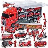 JOYIN Camión de Bomberos Juguete 10 En 1 Die-Cast Coche Mini Modelo Construcción Vehículo de Juguete Regalo para Niño 3 4 5 6 Años