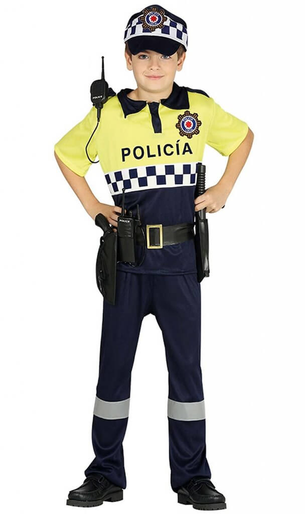 disfraz policia local niños