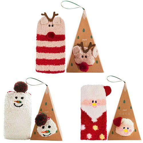 3 pares calcetines Navidad