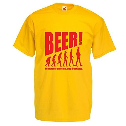 camiseta evolucion cerveza