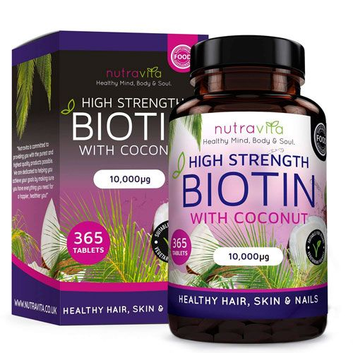 Biotina vegana con aceite de coco