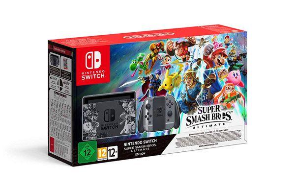 Pack Nintendo Switch Edición Super Mario Smash Bros Ultimate