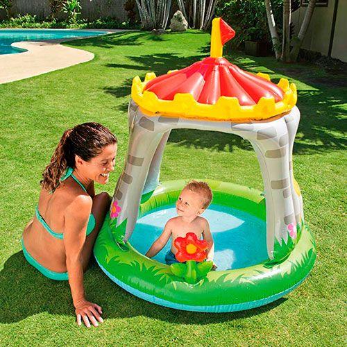 Piscina para bebé con forma de castillo Intex