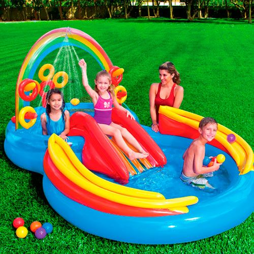 piscina hinchable arco iris intex