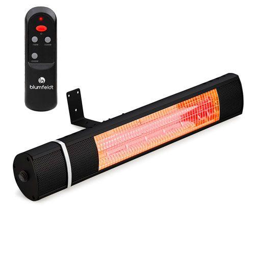 Estufa eléctrica por infrarrojos para exterior