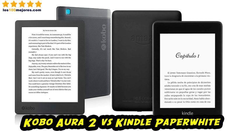 Kobo Aura 2 vs Kindle Paperwhite: Comparativa 2019