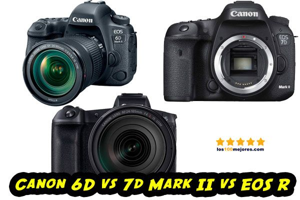 Canon 6D vs 7d Mark II vs EOS R