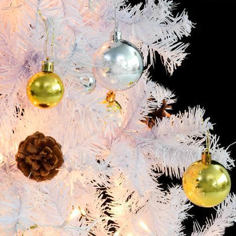 árbol Navidad blanco decorado 180 cm
