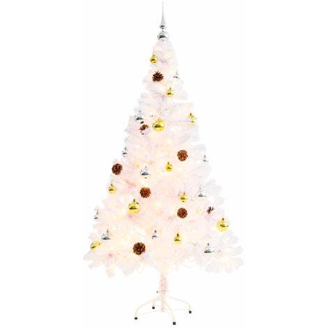 árbol Navidad blanco decorado