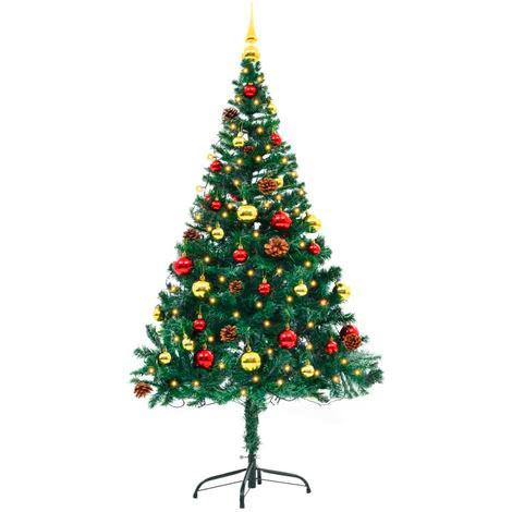 árbol Navidad decorado 150 cm