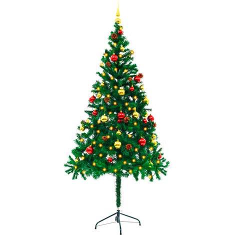 árbol navidad decorado 180 cm