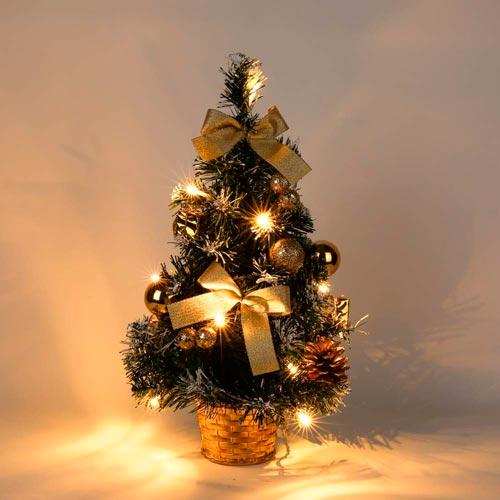 árbol Navidad dorado decorado