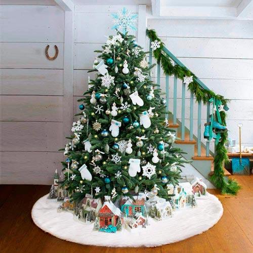 árbol Navidad falda blanca