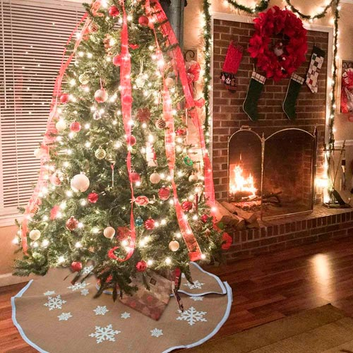 base árbol Navidad