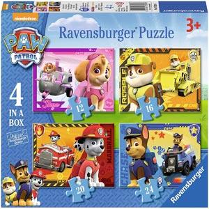Puzzle 4 en 1 - Patrulla Canina