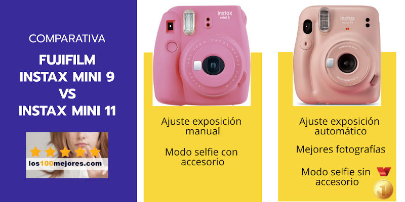 comparativa instax mini 9 vs instax mini 11