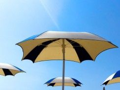Sombrillas de playa grandes de más de 2 metros de diámetro.